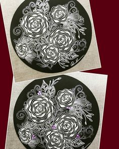 ZIA 092316. I make my work in two ways, the top one is original with no rhinestone, and the bottom one is with rhinestones.  Which one you like?  Welcome to visit my FB Page:  http://www.facebook.com/Rebecca.Zentanglebox/  #zia #zentangle #zendoodle #doodle #doodleart #drawing #draw #tangle #art #artwork #sketch #blackandwhite #rhinestones #zentangleart #zentangleinspiration #learnzentangle #zenart #hearttangles #flowers