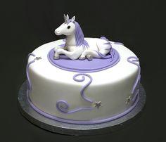 Unicorn Birthday Cake for an adult who loves unicorns. cake, topper is fondant. Welsh Cakes Recipe, Unicorn Cake Topper, Unicorn Cakes, Horse Cake, Fondant Horse, Purple Cakes, Cake Central, Girl Cakes, Cake Girls