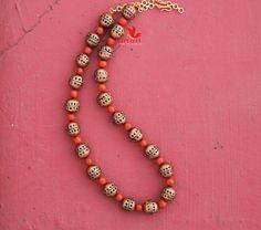 Thread Jewellery, Fashion Jewellery, Funky Jewelry, Clay Jewelry, Necklace Set, Beaded Necklace, Beaded Bracelets, Teracotta Jewellery, Terracotta Jewellery Designs