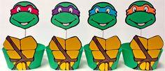 Teenage Ninja Turtle Cupcake Topper and Wrappers
