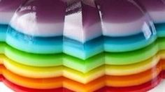 Spiked Rainbow Ribbon Salad | Recipe | Jello, Rainbows and Rainbow ...