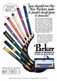Parker 1920s UK Pens Pencils - my mom always liked these pens
