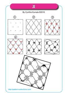 JI tangle pattern Cynthia Kumala  PatternCollections.com