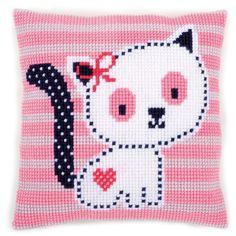 Kitten Vervaco Chunky Cross Stitch Cushion Kit - for sale online Cross Stitch Kits Uk, Cross Stitch Bookmarks, Cross Stitch Baby, Cross Stitch Designs, Cross Stitch Patterns, Cross Stitch Cushion, Cross Stitch Fabric, Cross Stitch Embroidery, Tapestry Kits