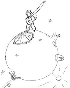 Click Little Prince Cleaning Volcanoes Coloring Page For Printable Version