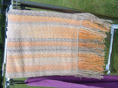 A beautiful hand woven scarf by guild member Jenny Rose.https://worsteadweavers.org.uk/