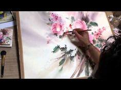 ▶ yazdchi watercolor painting-1 - YouTube