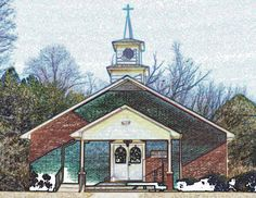 Clear Creek Baptist Church on Homer Wright Rd., Talking Rock, GA (Dec 2016).