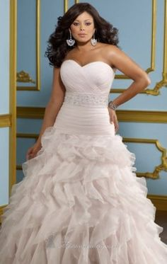 Ruched Organza Wedding Gown by Mori Lee 3118