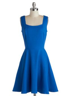 Sapphire Spin Dress.   One of my favorite, simple blue dresses. This pairs well with a bright cardigan and statement necklace.    I do have problems with this dress on windy days though.