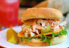 Rotisserie Pulled Chicken Salad Sandwiches!