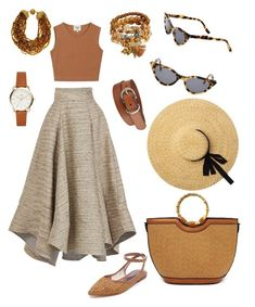 A fashion look from April 2018 featuring sleeveless tops, high-waisted skirt and flat shoes. Browse and shop related looks. Fashion Looks, Women's Fashion, Saint Tropez, Uniqlo, High Waisted Skirt, Skirts, Polyvore, Bags, Shopping