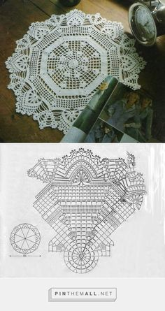 Beautiful crochet lace doily. Like the straight-line octagon construction of the center and LOVE the outer border!! http://szydelkomania.blogspot.com/2012/08/serwetka.html