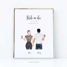 Ride or die love | romantic quotes - 8x10 in. / download