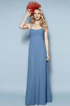Watters Laurel Bridesmaid Dress | Weddington Way... Plus one awesome head piece.