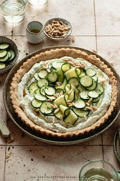 Fun Baking Recipes, Easy Dinner Recipes, Great Recipes, Vegan Recipes, Vegan Food, Healthy Food, Zucchini Pie, Whipped Feta, Eating Raw