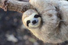 Needle Felted Sloth by NeedleFeltedLove on Etsy