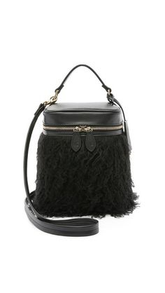 0534b57ab4 Vasic Collection Shearling Box Shoulder Bag