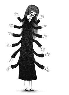 Centipede by tourniiquett Arte Horror, Horror Art, Creepy Art, Weird Art, Creepy Drawings, Art Drawings, Piskel Art, Dessin Old School, Posca Art