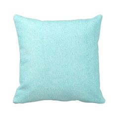 Baby Blue Micro Suede Zippered Throw by PrimalVogueHomeDecor