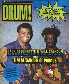 Issue #12 1993 Jack DeJohnette and Will Calhoun