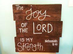 Wood Pallet Art  Bible Verse Series joy by HollysHobbiesTN on Etsy, $45.00