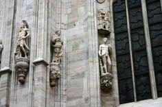 Category:Exterior of the Duomo (Milan) - Wikimedia Commons Wikimedia Commons, Greek, Exterior, Italy, Sculpture, Statue, Home, Italia, Sculpting