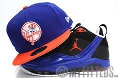 new era hats | New York Yankees Royal Blue Orange Mets Custom New Era Fitted Cap