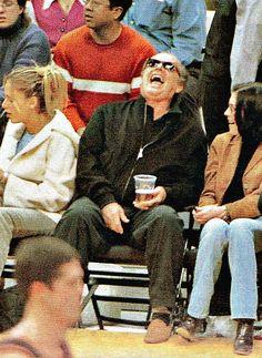 Jack Nicholson at an LA Lakers game.