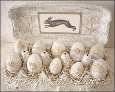 DIY: Easter Egg Carton Inspiration...great idea for a DIY project, she explains how she made this, Love this look!