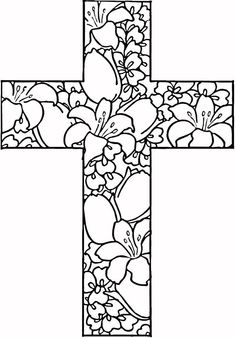 Free Printable Cross Coloring Pages | Free printable, Bible and Template