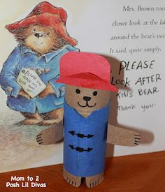Make an easy TP Roll Paddington Bear to go along with the book! The you can use it to retell the story! Fun!