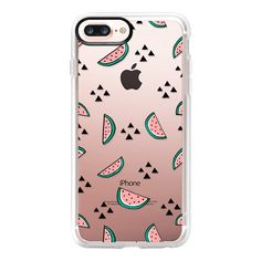 Watermelon Lovin' - iPhone 7 Plus Case And Cover ($39) ❤ liked on Polyvore featuring accessories, tech accessories, iphone case, clear iphone case, apple iphone case, iphone cases and iphone cover case