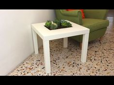 Add A Planter Feature To Your IKEA Lack Table