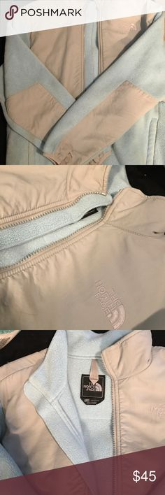 Light Blue Youth XL North Face Light blue and grey Northface full Zip, extra large youth fits a women's small, great condition North Face Jackets & Coats