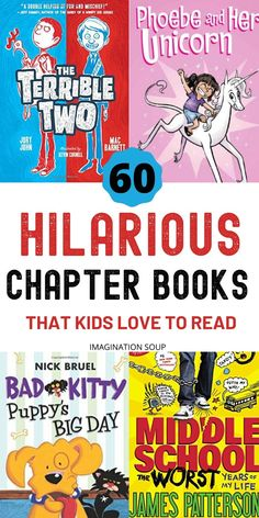 So many reluctant readers become enthusiastic when they read funny books. Get your kids hooked on funny chapter books like these top choices! Audio Books For Kids, Art Books For Kids, Funny Books For Kids, Books For Tweens, Kids Story Books, Funny Kids, Historical Fiction Books For Kids, Wimpy Kid Series, Books About Kindness