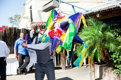 Party Pinata at Outdoor Reception at Aunt Chilada's