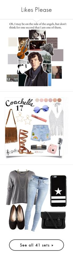 """""""Likes Please"""" by fionaandroid ❤ liked on Polyvore featuring art, GRLFRND, Urban Outfitters, Eye Candy, Express, ZeroUV, Too Faced Cosmetics, Deborah Lippmann, Fujifilm and H&M"""