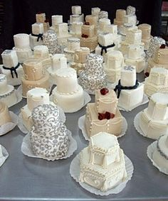 "Mini Individual Wedding Cakes!  Matty's Cakes Wedding Cakes  Atlanta, GA   ""best of weddings 2010"""