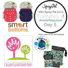 This is such an awesome week! Not only did the All About Cloth Diapers 7th Anniversary Celebration kick off last night with amazing fun and prizes, we are also helping Spray Pal celebrate their son Ryan's 3rd birthday with Day 5 of #miniSPbdaybash!