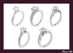 #Holiday #Specials ~ #MichaelM #Engagement #Rings exclusively at #Capri #Jewelers #Arizona ~ http://www.caprijewelersaz.com/michael-m ♥  Five Filigree styles x Michael M.