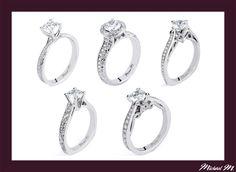 #Holiday #Specials ~ #MichaelM #Engagement #Rings exclusively at #Capri #Jewelers #Arizona ~ http://www.caprijewelersaz.com/michael-m ♥  Five Filigree styles x Michael M.