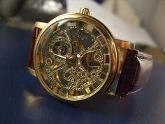 Luxury Men's Mechanical Wrist Watch Golden by NotJustGreatFinds