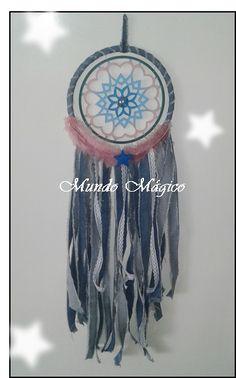 Atrapasueños Mandala y jean ,mundo mágico bb