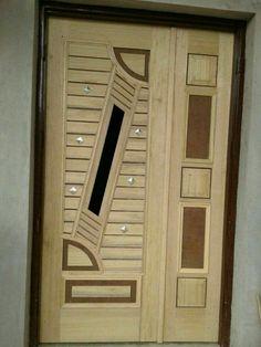 Pin by Dr. Surendra on hum in 4 Door Design Images, Home Door Design, Pooja Room Door Design, Bedroom Door Design, Door Gate Design, Door Design Interior, Interior Doors, Wooden Front Door Design, Double Door Design