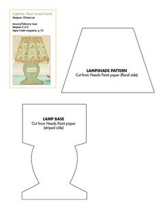 Free lamp pattern download.... plus the template for the lamp card base is on the same page