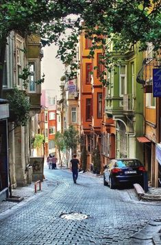 Colourful ancient houses street in Istanbul. Places Around The World, Oh The Places You'll Go, Travel Around The World, Places To Travel, Places To Visit, Around The Worlds, Beautiful World, Beautiful Places, Istanbul Travel