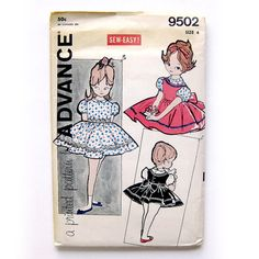 Girls Party Dress and Jumper Pattern / Full Skirt by SelvedgeShop