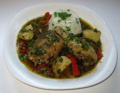 seco de pollo - peruvian cilantro chicken