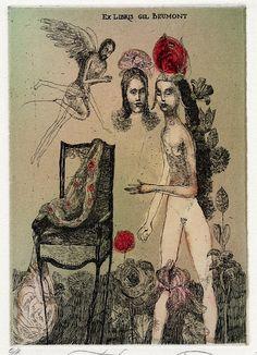 イメージ2 - Katarina Vavrova (7)の画像 - 蔵書票の世界 - Yahoo!ブログ
